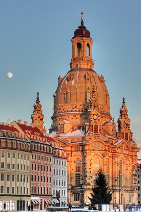 Blick vom Jüdenhof Richtung Neumarkt mit der Frauenkirche