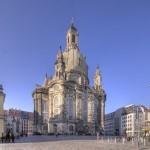 Frauenkirche Dresden am Morgen