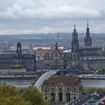 Dresden Altstadt, Ansicht vom gegenüberliegenden Elb-Ufer