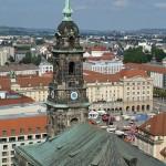 Blick vom Rathausturm Dresden zur Kreuzkirche