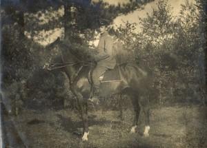 Leutnant im Ersten Weltkrieg, aufgenommen wohl auf dem Heller in Dresden