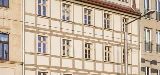 Barockes Fachwerkhaus an der Friedrichstraße in Dresden