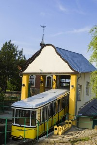 Bergstation der Standseilbahn